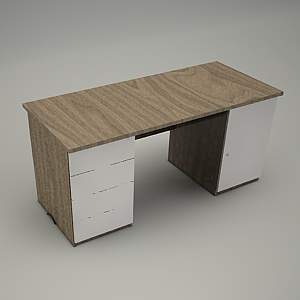 free 3d models - HEBE desk and container BP27