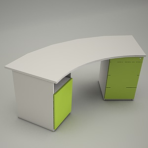 free 3d models - HEBE desk and container BP33