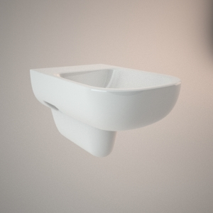 Hung bidet 3d model TRAFFIC