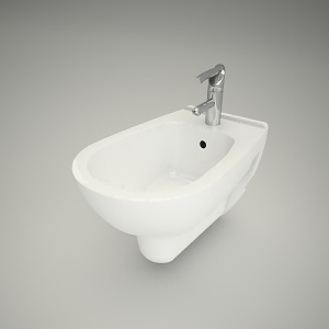 free 3d models - Hung bidet nova top