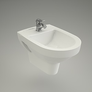 bidet wall-hanging 3d model - CARINA
