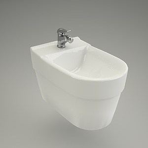 bidet wall-hanging 3d model - DECO