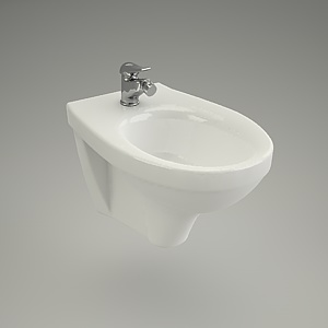 bidet wall-hanging 3d model - DELFI