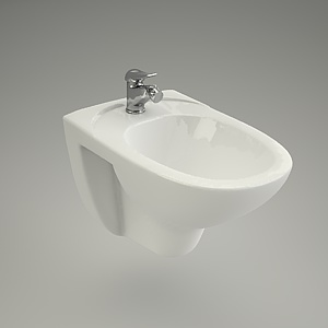 bidet wall-hanging 3d model - EKO