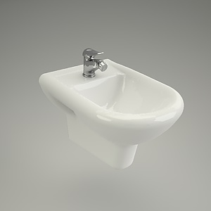 bidet wall-hanging 3d model - IRYDA