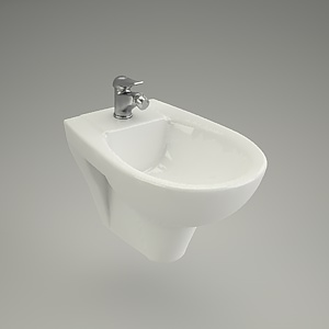 bidet wall-hanging 3d model - PRESIDENT