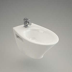 bidet wall-hanging 3d model - VENEZIA