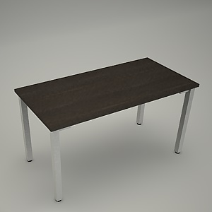 free 3d models - Desk HEBE plain BK02