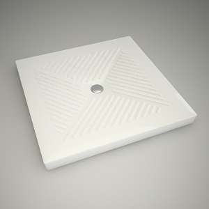 free 3d models - Shower tray abele 90cm