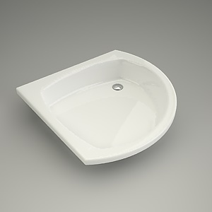 shower tray asymmetric3d model - 80