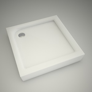 free 3d models - Shower tray first 90cm