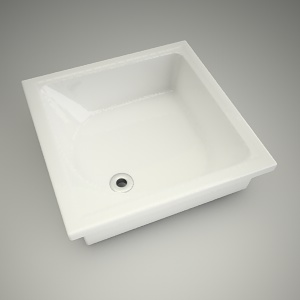 free 3d models - Shower tray deep 80cm