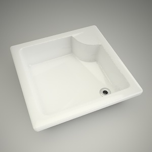 free 3d models - Shower tray deep 90cm