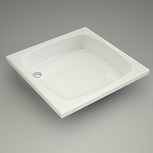 square shower tray 3d model - 80x80x16