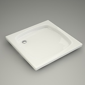 square shower tray 3d model - 80x80x6