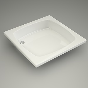square shower tray 3d model - 90x90x16