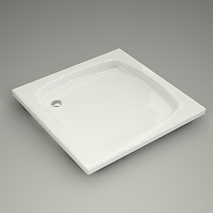 square shower tray 3d model - 90x90x6