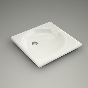 square shower tray 3d model - VIKING 80