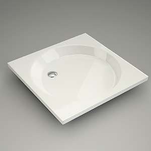 square shower tray 3d model - VIKING 90