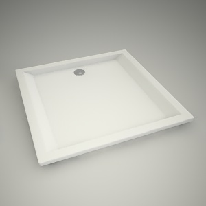free 3d models - Shower tray pacyfik 100cm
