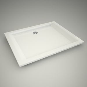 free 3d models - Shower tray pacyfik 100x80cm
