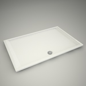 free 3d models - Shower tray pacyfik 140x90cm