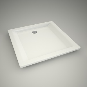 free 3d models - Shower tray pacyfik 80cm