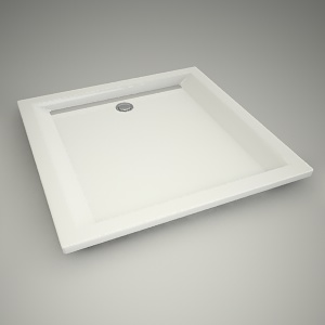 free 3d models - Shower tray pacyfik 90cm