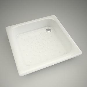 free 3d models - Shower tray panda 80cm