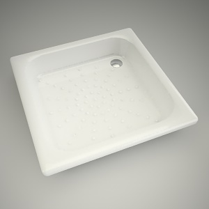 free 3d models - Shower tray panda 90cm