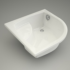 free 3d models - half-round tray 90 with seat