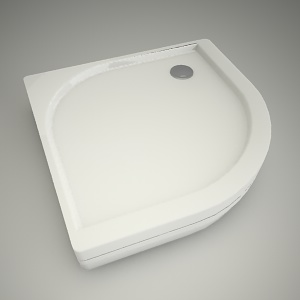 free 3d models - Half-round shower tray akcent 80