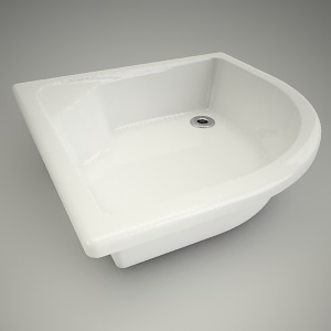 free 3d models - Shower tray h-r deep 90cm