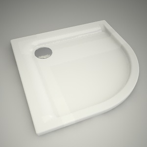 free 3d models - Half-round shower tray pacyfik 80