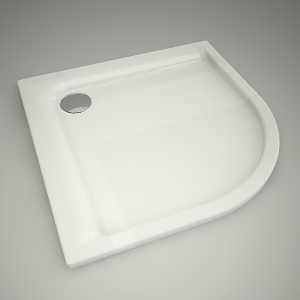 free 3d models - Half-round shower tray pacyfik 90