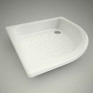 free 3d models - Half-round shower tray panda 80