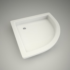 free 3d models - Half-round shower tray s plus 80cm