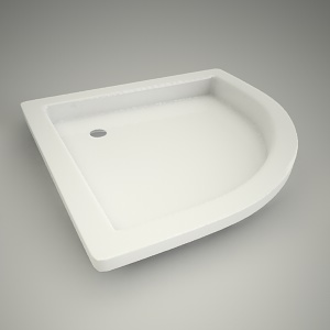Half-round shower tray s plus 90
