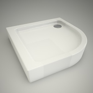 free 3d models - Half-round shower tray simplo 90