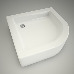 free 3d models - Half-round shower tray s plus 80