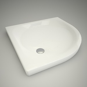 free 3d models - Half-round shower tray xeno 90