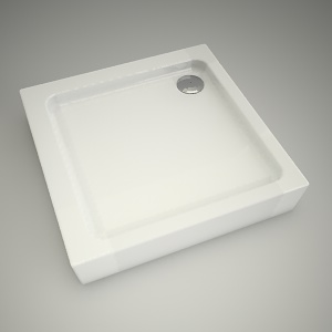 free 3d models - Shower tray simplo 90cm