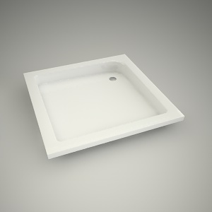 free 3d models - Shower tray standard plus 80