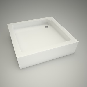 free 3d models - Shower tray standard p 80cm