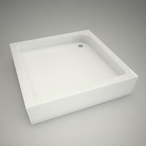 free 3d models - Shower tray standard p 90cm