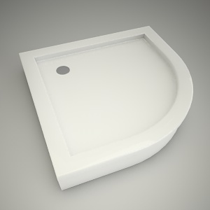 free 3d models - Half-round shower tray terra 90