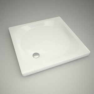 free 3d models - Shower tray xeno 90cm