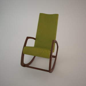 Rocking chair BJ-0321 3d model FAMEG