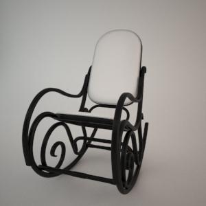 Rocking chair BJ-9816 3d model FAMEG