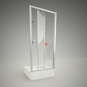 free 3d models - Shower door akord bifold 90
